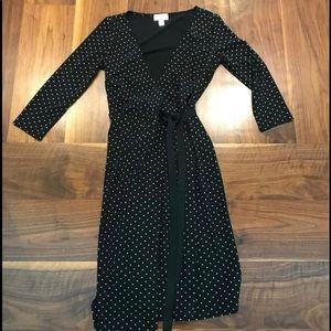 Ann Taylor Loft Polka Dot Wrap Dress
